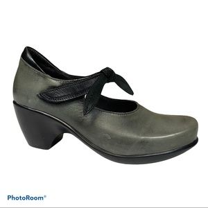 Naot Green leather pleasure Mary Jane Shoes